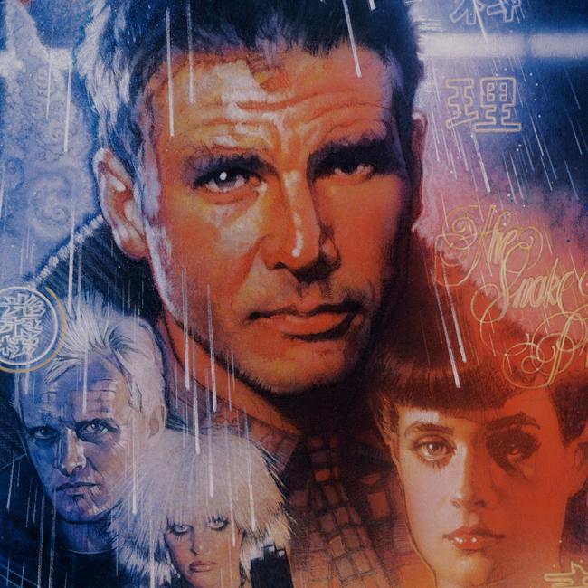 Blade Runner key art by Drew Struzan